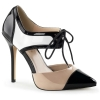 AMUSE-30 Black/White/Nude Patent